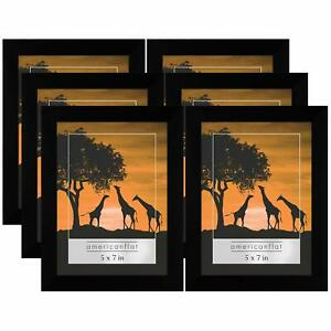 Americanflat 6 Pack 5x7 Picture Frames Display Pictures 5x7 Inches