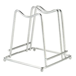 Stainless Steel Cutting Board Holder Chopping Board Stand Rack Organizer Tool