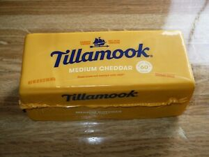 2 lb Tillamook Cheese Medium Cheddar  From Oregon!! Never Frozen! BUY 2 for $45!
