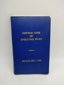 1968 Railroad Company Uniform Code Of Operating Rules Chicago Houston St Louis