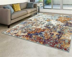 6490 Multi Colored Abstract Modern Area Rug