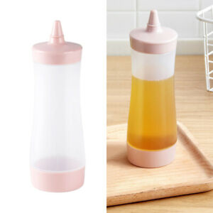 3PCS Squeeze Bottles Plastic Safe Ketchup Syrup Bottles Containers for Condiment