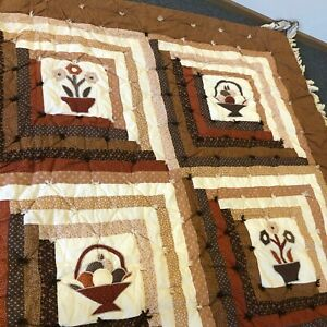 Vintage Full Size Custom Made Quilt 84
