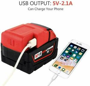 NEW Battery Power USB Charger Adapter for Milwaukee 49-24-2371 M18 Heated Jacket