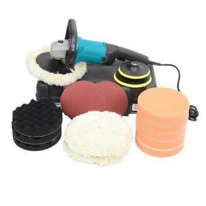 7-inch 6 Variable Speed Buffer Waxer w/ 3 Buffing / Polishing Pads Portable