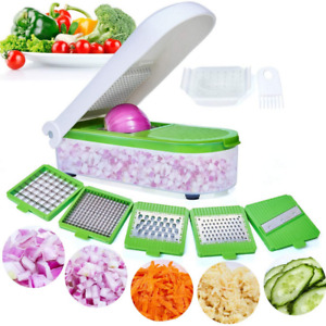 Vegetable Chopper Mandoline Food Slicer Onion Chopper Potato Cutter w/ Container