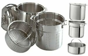 All-Clad E796S364 Specialty Stainless Steel Dishwasher Safe 12-Quart Multi Cooke