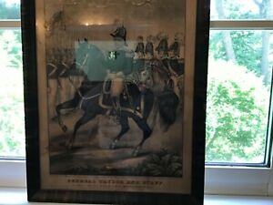 Antique N. Currier lithograph of General Taylor and staff $199.00
