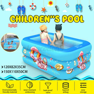 Kids Inflatable Swimming Pool Children Three layer Paddling Water Bath Outdoor