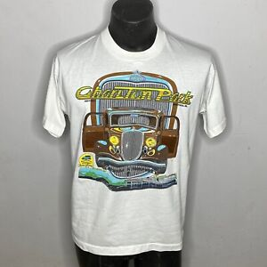 Vintage 90s Single Stitch Fruit Of The Loom Car Graphic T shirt Men's Size Large