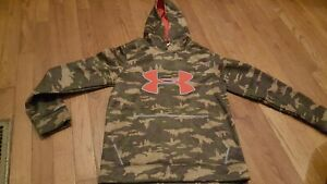 Boy's UNDER ARMOUR Loose Hunters Camo Pullover Hoodie YOUTH MEDIUM $4.65