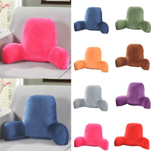 Home Sofa Bed Rest Pillow Waist Cushion with Arms Back Support Stable TV Reading $43.69