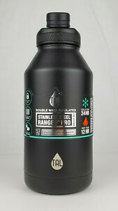 Tal 64oz Black Stainless Steel Ranger Pro Water Bottle Double Wall Insulated
