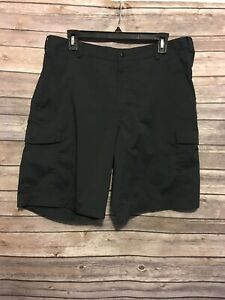 Nike Golf Dri Fit Athletic Casual Flat Front Golf Shorts Mens 34 Black $18.99
