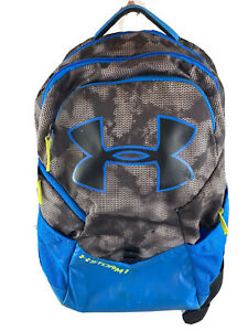 UNDER ARMOUR X STORM 1 Blue w Gray Black Camo Backpack Bookbag School Bag $15.50