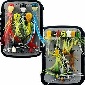 YAZHIDA Fly Fishing Flies Kit Fly Assortment Trout Bass Lure Set with Fly Box w