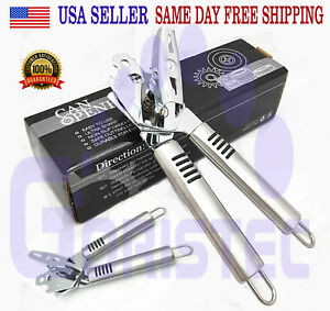 PREMIUM CAN OPENER Stainless Steel Heavy Duty Blades Strong Professional Chef $11.95