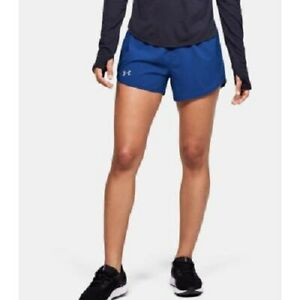 Under Armour Women's 3 Fly By Running Shorts, Blue, Size M, NwT $17.99