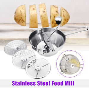 Stainless Steel Food Mill Metal Vegetable/Rice Mixer Maker Kitchen Tools