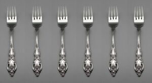 Oneida Stainless Monte Carlo Salad Forks - Set of Six *