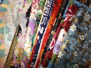 ASIAN Chinese Japanese ORIENTAL flower Cotton Fabric U Pick HALF YARD LOTS READ $3.95