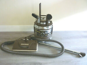 Rare Vintage Brown Filter Queen Canister Vacuum Cleaner With Hose Attachments