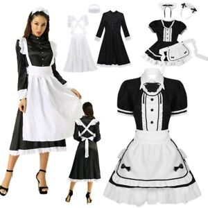 Womens Cosplay French Apron Halloween Maid Fancy Dress Outfits Costume #S XXL $24.08