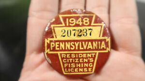 1948 Pennsylvania PA Fishing License 207237