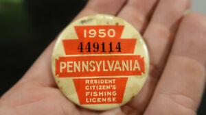 1950 Pennsylvania PA Fishing License 449114