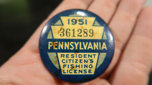 1951 Pennsylvania PA Fishing License 361289