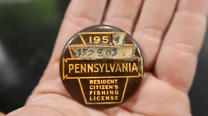 1953 4 Pennsylvania PA Fishing License 457803