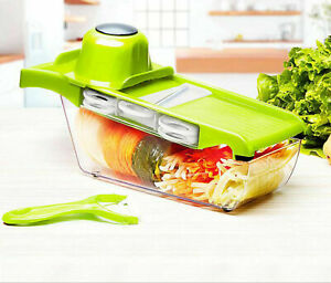 6IN1 A Food Slicer Dicer Nicer Container Chopper Peeler Vegetable Fruit Cutter