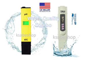 Combo 2 in 1 Water Quality Tester Digital pH Acidity TDS 3 Portable Meter Temp $15.28