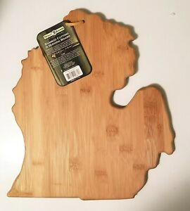 Totally Bamboo Michigan State Shaped Bamboo Serving & Cutting Board