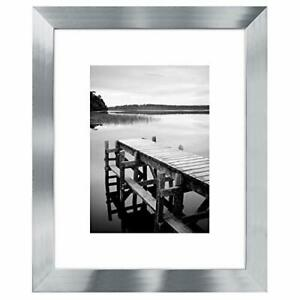 Americanflat Picture Frame Silver Wood for Wall and Tabletop 4x65x78x1011x14