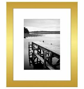 Americanflat Picture Frame in Gold Wood for Wall and Tabletop 8x10 11x14