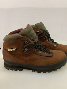 MEN'S CABELAS BOOTS GORE TEX Size 10.5 W Wide BROWN Leather Steel Toe