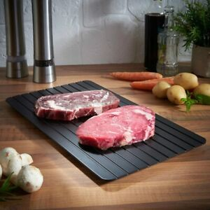 Rapid Thaw Fast Defrosting Tray Plate Safest Quick Way Deicing Meat Fish US