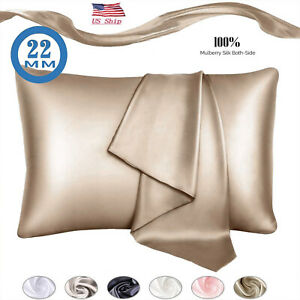 100% Pure Mulberry Silk Pillowcase 22 Momme For Hair And Skin Cushion Cover