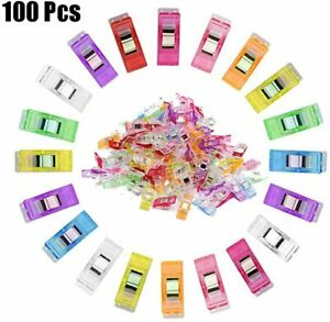 100Pcs Plastic Quilter Holding Wonder Clips Quilt Binding Sewing Accessories USA $11.08