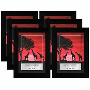 Americanflat Black Picture Frame 6 Pack Available in 4x6 5x7 8x10