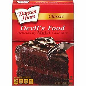 Duncan Hines Classic Devils Food Cake Mix 15.25 Ounce Box