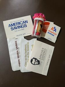 7 VINTAGE ADVERTISING SEWING TRAVEL KITS AND NEEDLE PACKETS $22.00