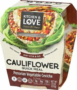 6 Pack Kitchen amp; Love Peruvian Vegetable Ceviche Cauliflower Quick Meal 7.9 Oz
