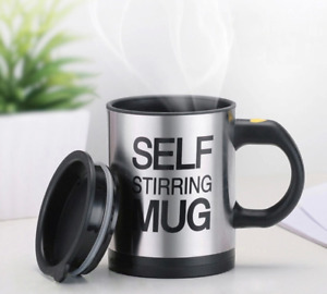 Automatic Self Mug Stirring Coffee Cup Tea Stainless Mixer Auto Insulated 400ml $12.99