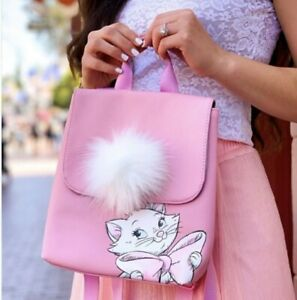 New Marie Aristocats Pink Backpack Purse $47.99