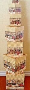 NEW Bob#x27;s Boxes PIECE ON EARTH 7 Piece Christmas Gift Nesting Boxes