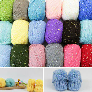 Colorful Yarn Crochet DIY Knitting Wool Yarn DIY Baby Scarf Sweater Hat Crafts $3.09
