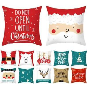 Christmas Home Case Santa Polyester Tree Pillow Cushion Cover Xmas Decor x 1 $3.87