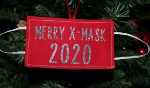 2020 Mini Face Mask Holiday Ornaments